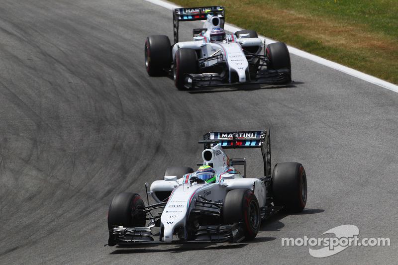Felipe Massa, Williams FW36 ve takım arkadaşı Valtteri Bottas, Williams FW36