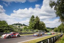 Start: #12 Manthey-Racing Porsche 997 GT3 R: Otto Klohs, Sebastian Asch, Harald Schlotter, Jens Richter