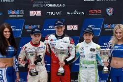 Podium: race winner Matt Rao, second place Sam Macleod, third place Andy Chang