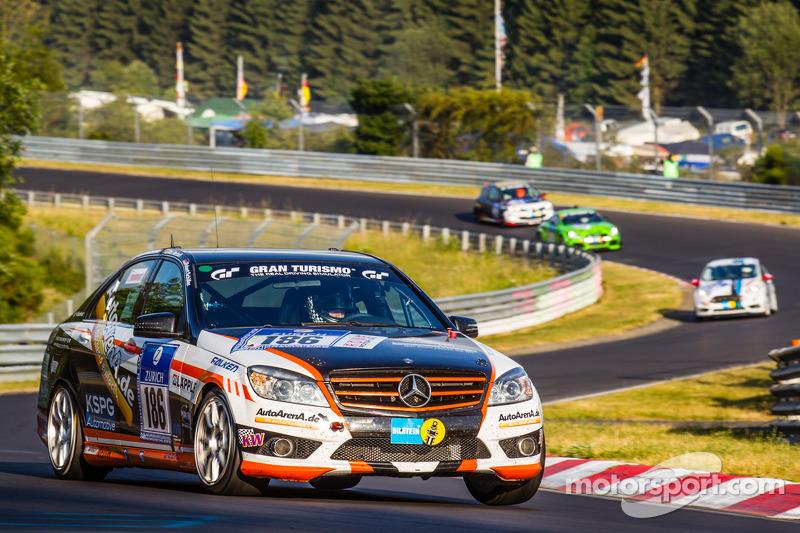 #186 Team AutoArena Motorsport 梅赛德斯-奔驰 C 230: Patrick Assenheimer, Marc Marbach, Hannes Pfledderer