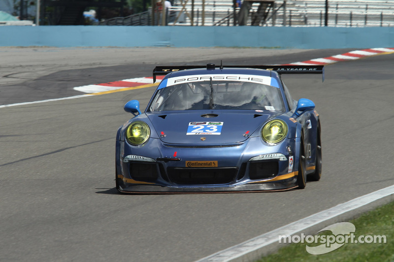 #23 #23 Team Seattle/Alex Job Racing 保时捷 911 GT America: 伊恩·詹姆斯, 马里奥·法恩巴赫