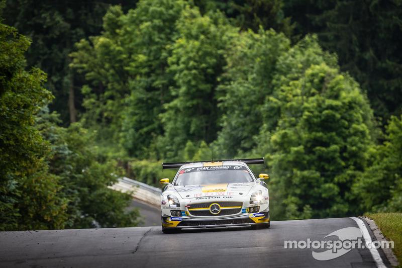 #23 Rowe Racing 梅赛德斯-奔驰 SLS AMG GT3: 克劳斯·格拉芙, 扬·赛费特, 托马斯·贾格尔, 理查德·戈兰森