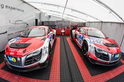 Audi Race Experience paddock area