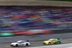 Mike Rockenfeller, Audi Sport Team Phoenix Audi RS 5 DTM hunts Maxime Martin, BMW Team RMG BMW M4 DTM