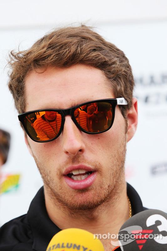 Daniel Juncadella, piloto reserva da Sahara Force India F1 Team, com a imprensa
