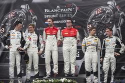 Podium: race winners Enzo Ide, Rene Rast, second place Thomas Jäger, Dominik Baumann, third place Robert Renauer, Jaap van Lagen