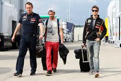 Jean-Eric Vergne, Scuderia Toro Rosso; Romain Grosjean, Lotus F1 Team