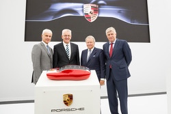 The opening of the Porsche development centre in Weissach