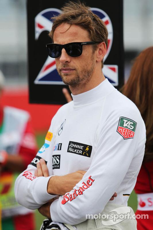 Jenson Button, McLaren sulla griglia di partenza