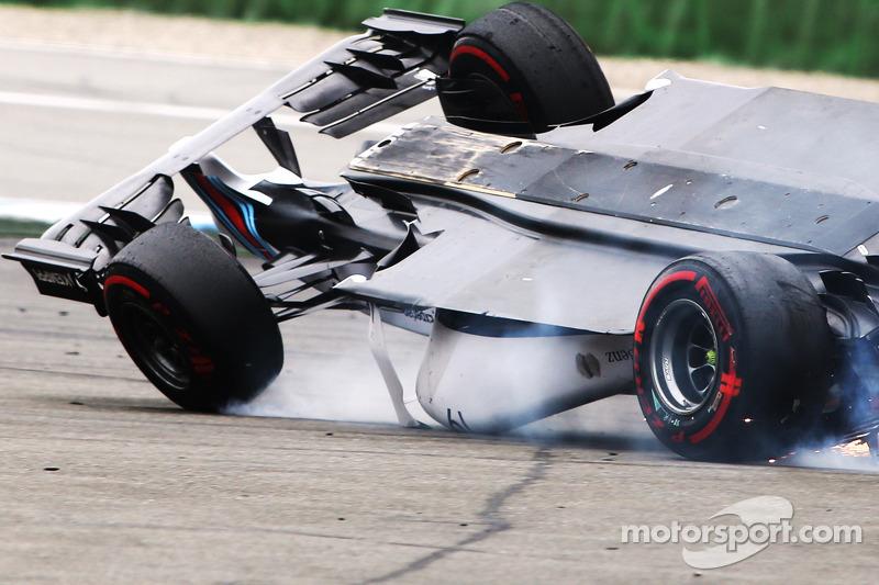 Felipe Massa, Williams F1 in a big crash