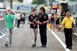 Daniil Kvyat, Scuderia Toro Rosso ve Marco Matassa, Scuderia Toro Rosso Yarış Mühendisi
