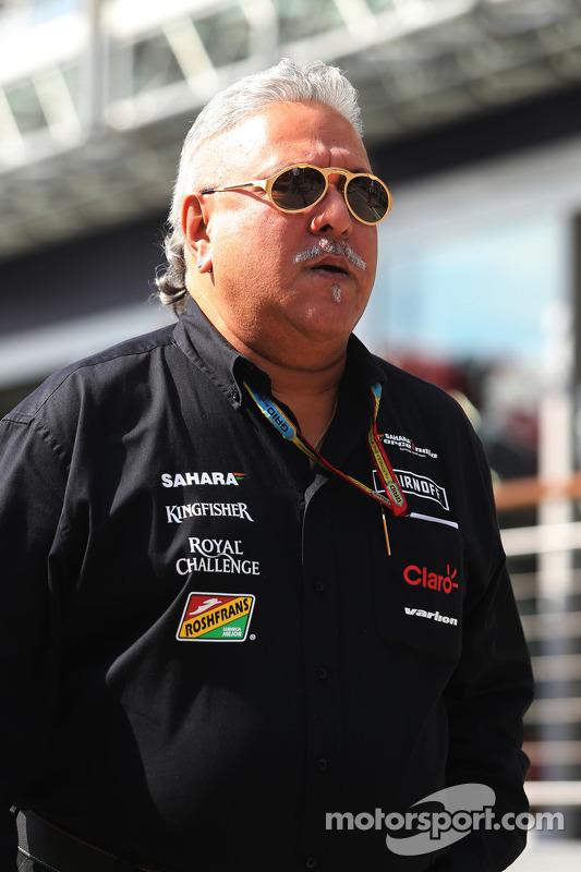 Vijay Mallya, Team Owner, Sahara Force India