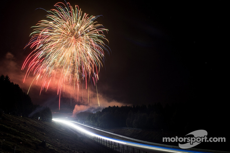 Fireworks over night racing action
