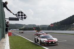 Race winner #1 Belgian Audi Club Team WRT Audi R8 LMS ultra: René Rast, Laurens Vanthoor, Markus Winkelhock