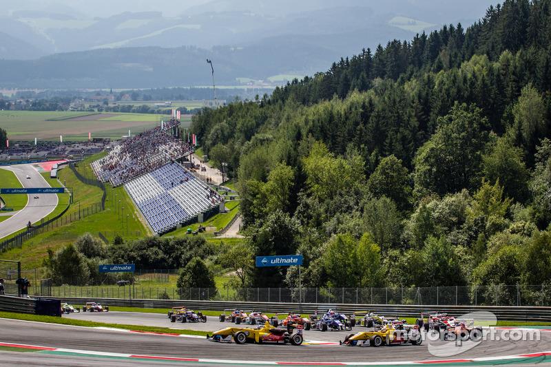 Partenza:Tom Blomqvist, Jagonya Ayam con Carlin Dallara F312 Volkswagen e Antonio Giovinazzi, Jagonya Ayam con Carlin Dallara F312 Volkswagen