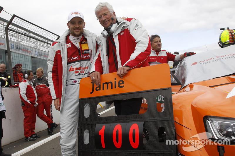 100th Race for Jamie Green, Audi Sport Team Abt Sportsline Audi RS 5 DTM with Arno Zensen, Audi sport Team Rosberg