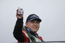 Race winner Martin Cao