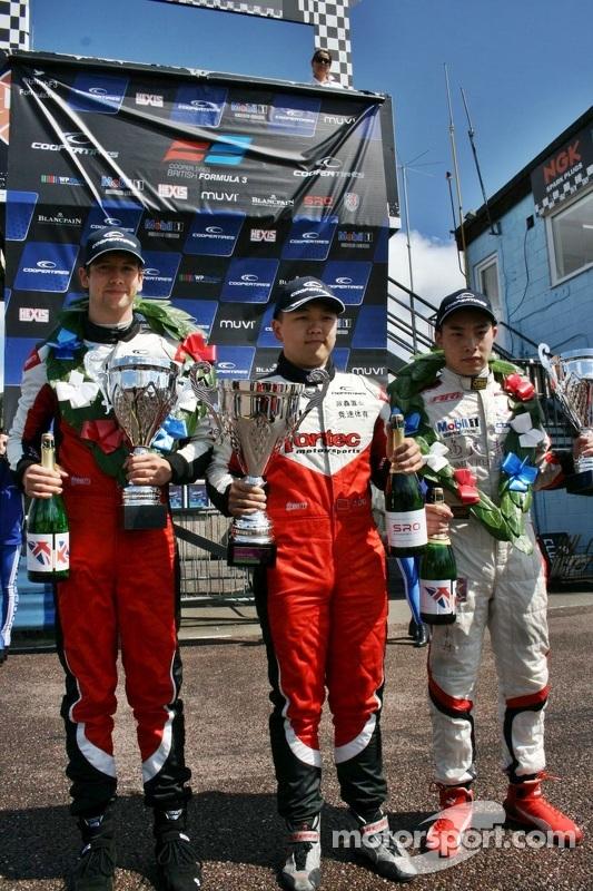 Vencedor da corrida Matt Rao, segundo lugar Martin Cao, terceiro lugar Peter Li Zhi Cong