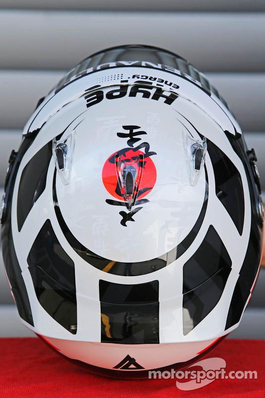 O capacete de Andre Lotterer, Caterham F1 Team