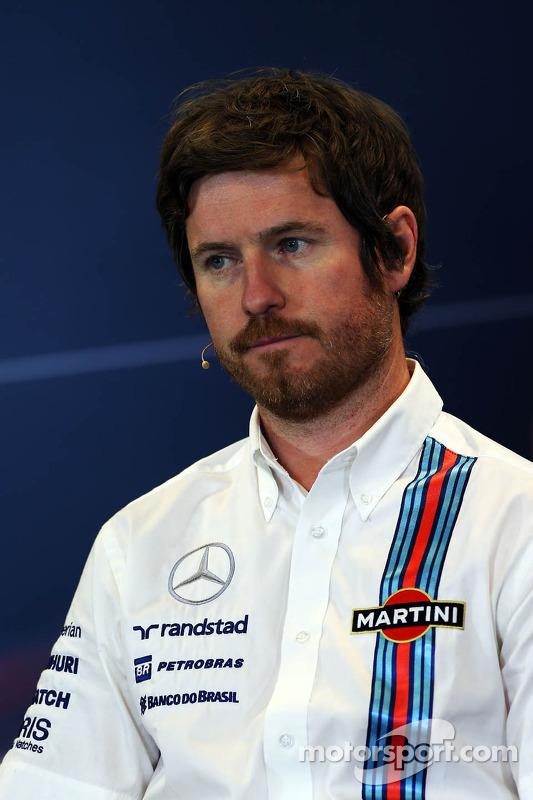 Rob Smedley, Williams comandante da engenharia na conferência de imprensa da FIA
