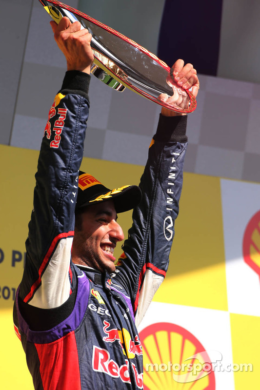 Podium: 1. Daniel Ricciardo, Red Bull Racing