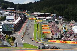 Rennstart: Lewis Hamilton, Mercedes AMG F1 W05