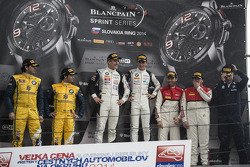 Pódio: vencedores Thomas Jäger, Dominik Baumann, segundo lugar Caca Bueno, Sergio Jimenez, terceiro