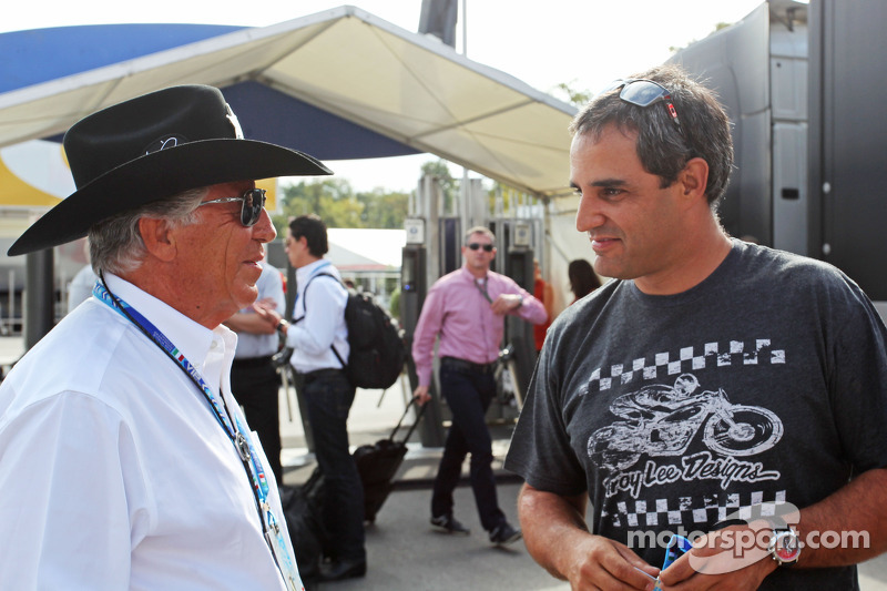 (L to R): Mario Andretti, with Juan Pablo Montoya