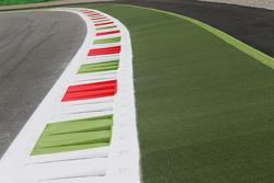 Erba sintentica e asfalto alla curva Parabolica