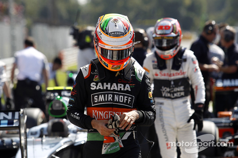Sergio Perez, Sahara Force India F1, al Parco Chiuso