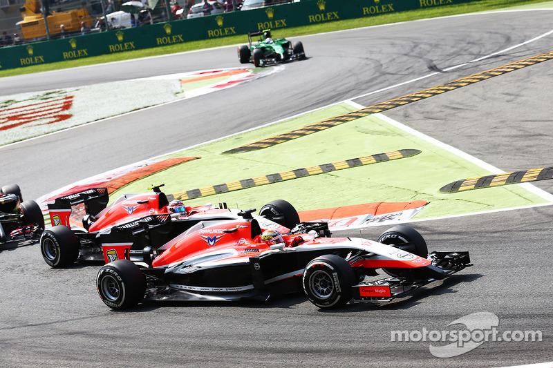 Jules Bianchi, Marussia F1 Team MR03 lidera a su compañero de equipo Max Chilton, Marussia F1 Team MR03