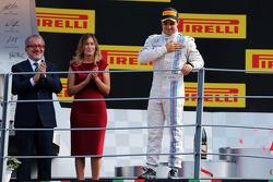 Felipe Massa, Williams celebra su tercera posición en el podio