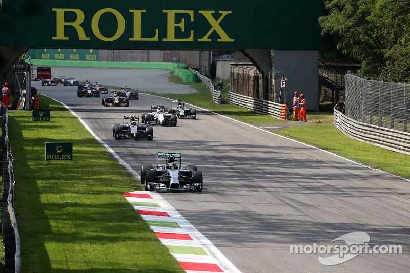Largada da corrida, Nico Rosberg, Mercedes AMG F1 Team
