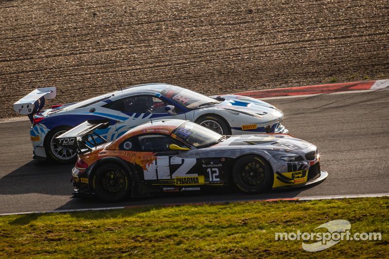 #12 TDS Racing BMW Z4: Henry Hassid, Nick Catsburg, #49 AF Corse Ferrari 458 Italia: Howard Blank, J