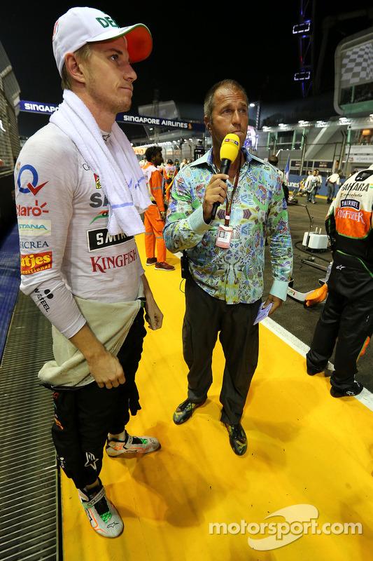 Nico Hülkenberg, Sahara Force India; Kai Ebel, RTL