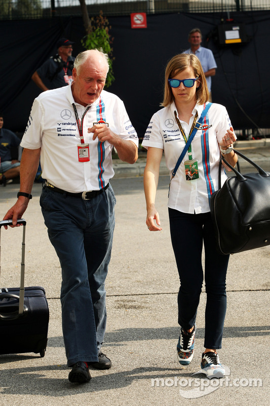 Edward Charlton, Williams Non-Executive Director with Susie Wolff, Williams Development Dr. Vijay Malyaiver