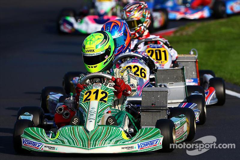 O alemão, hoje com 19 anos, correu de kart até 2014. Ele foi vice-campeão mundial na classe KF-Junior.