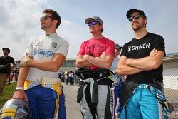 Marco Andretti, Scott Dixon et James Hinchcliffe