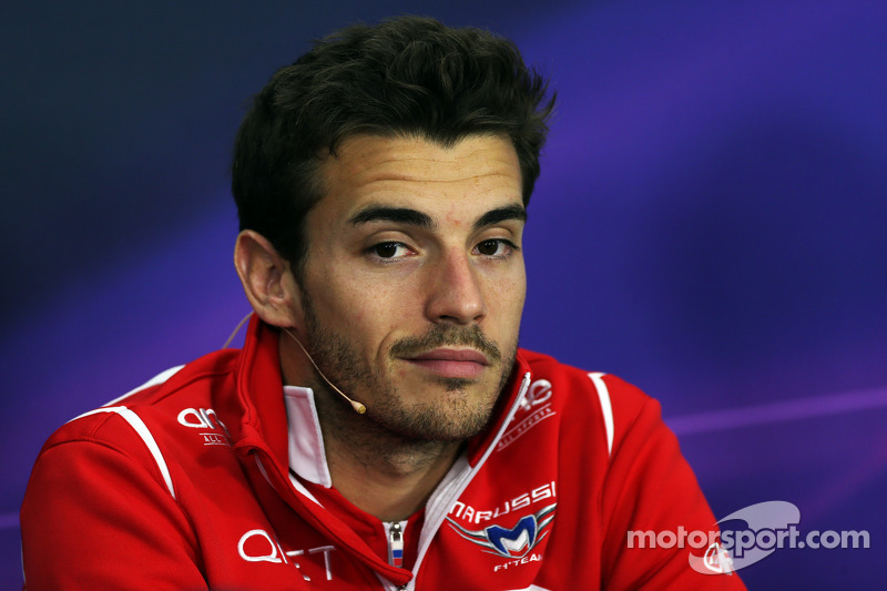 Жюль Б'янкі, Marussia F1 Team на прес-конференції FIA