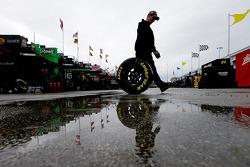 Pluie dans le garage