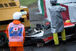 Safety team at work after the crash of Jules Bianchi, Marussia F1 Team