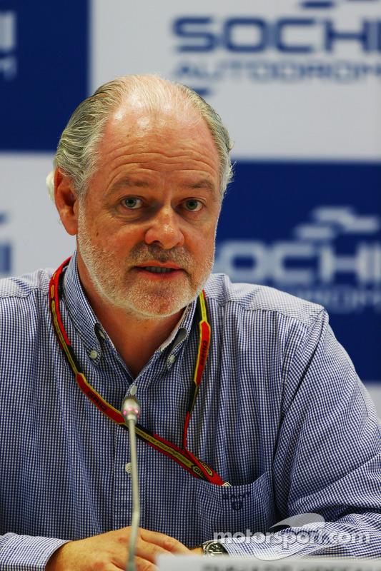 Richard Cregan, Russian Gre Prix Consulatant, coletiva de imprensa