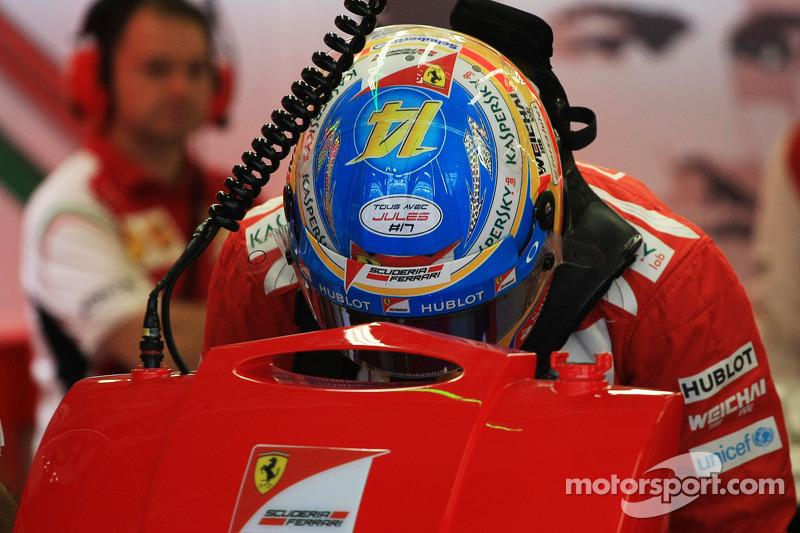 Fernando Alonso, Ferrari lleva un mensaje de apoyo a Jules Bianchi