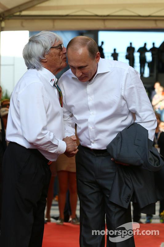 Bernie Ecclestone com Vladimir Putin, Presidente russo