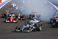 Lewis Hamilton, Mercedes AMG F1 W05 a inizio gara