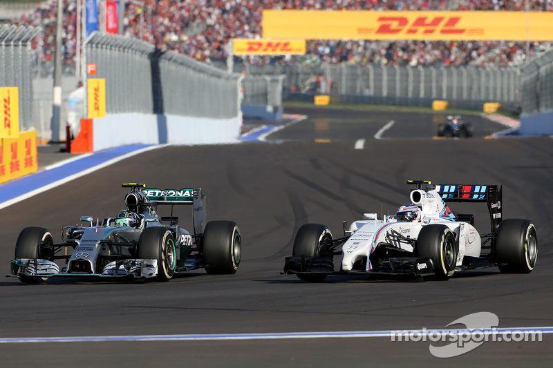 Nico Rosberg, Mercedes AMG F1 Team; Valtteri Bottas, Williams F1 Team