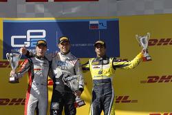 Stoffel Vandoorne, Marco Sorensen, and Felipe Nasr