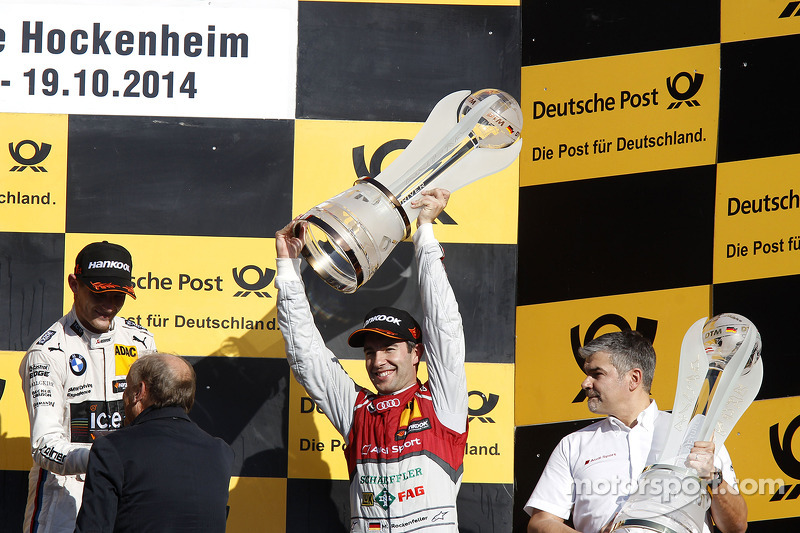 Campeonato Podio, tercero Mike Rockenfeller, Audi Sport Team Phoenix Audi RS 5 DTM