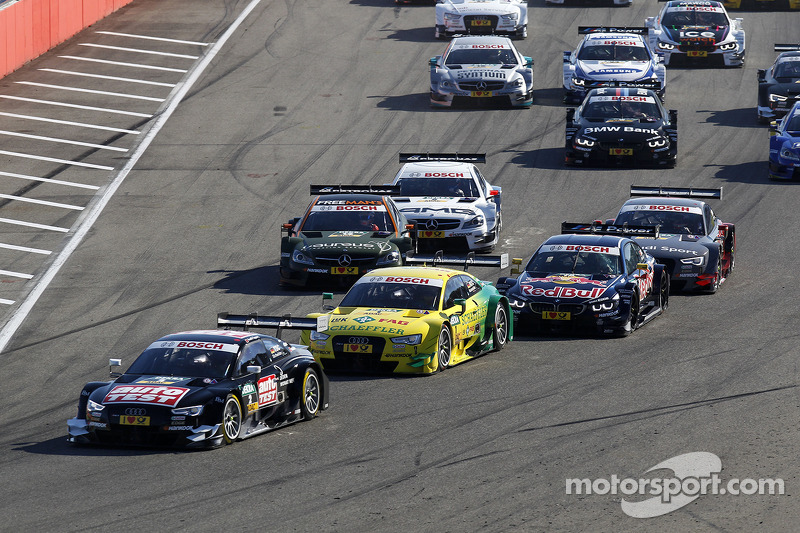Partenza della gara, Timo Scheider, Audi Sport Team Phoenix Audi RS 5 DTM