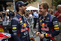 Daniel Ricciardo y Sebastian Vettel